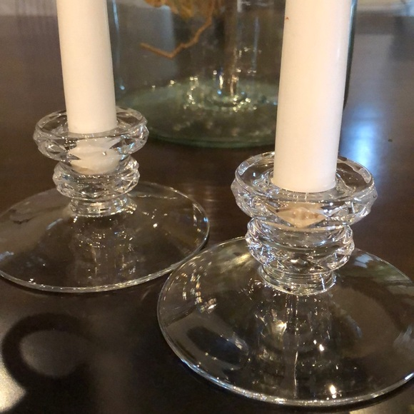 Vintage Other - Glass candle holders
